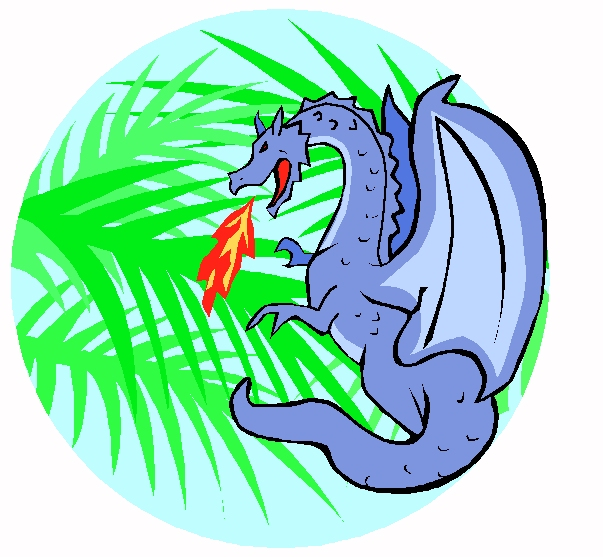 Dragon Palm Circle Logo